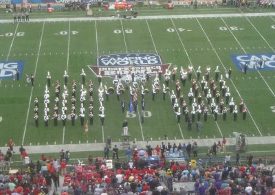 Independence Bowl at Independence Stadium, Bands Performing