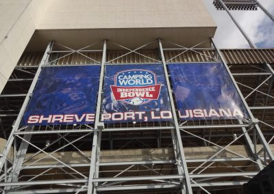 Independence Bowl at Independence Stadium, Banner
