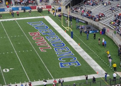 Independence Bowl at Independence Stadium, Logo in End Zone