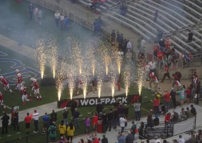 Independence Bowl at Independence Stadium, Teams Taking the Field