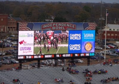 Independence Bowl at Independence Stadium, Video Board