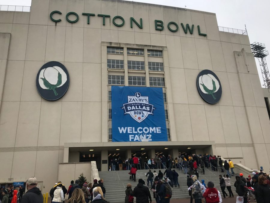 Cotton Bowl Exterior during the Heart of Dallas Bowl