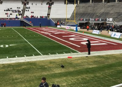 End Zone Message for First Responders at the Cotton Bowl for the Heart of Dallas Bowl