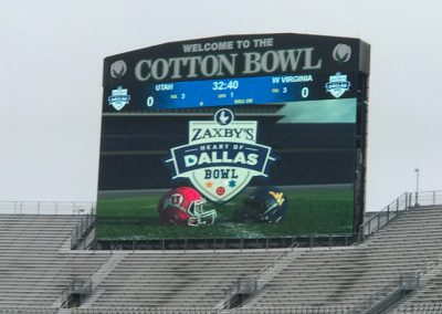 Scoreboard at the Cotton Bowl during the Heart of Dallas Bowl