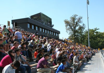 Brown Field, Valparaiso Crusaders Fans Look on