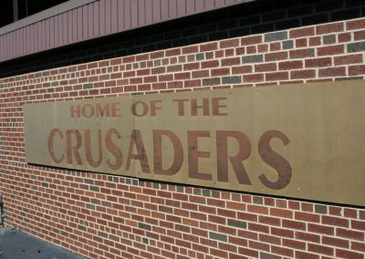 Brown Field, Valparaiso Crusaders Signage
