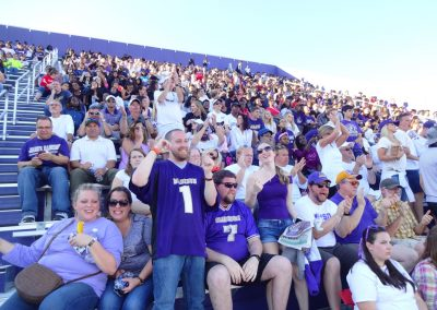 Fans Cheering on the Dukes at Bridgeforth Stadium Zane Showker Field
