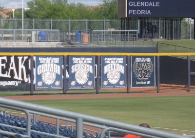 Peoria Sports Complex - AFL Hall of Fame Banners