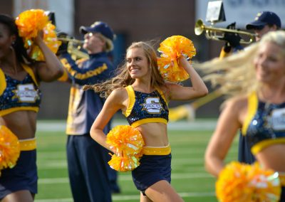 Band and Cheerleaders Perform