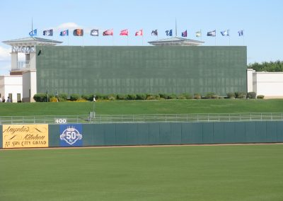 Surprise Stadium - Batter's Eye with all Cactus League Team Flags