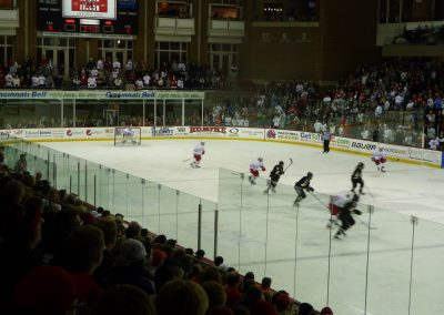 Game Action at Goggin Ice Center