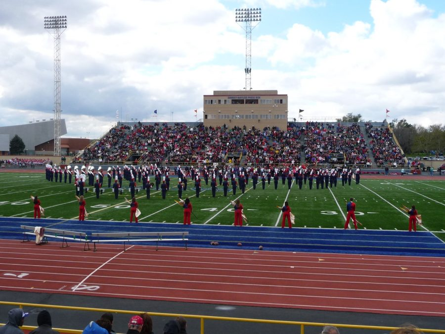 Welcome Stadium, Dayton Flyers Marching Band
