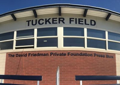 Tucker Field at Barcroft Park Press Box