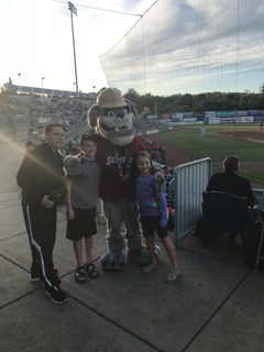 Scrappers Mascot at Eastwood Field