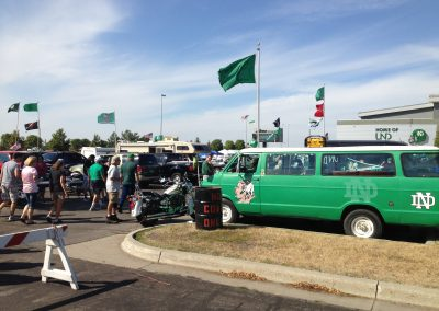 Alerus Center, tailgating outside