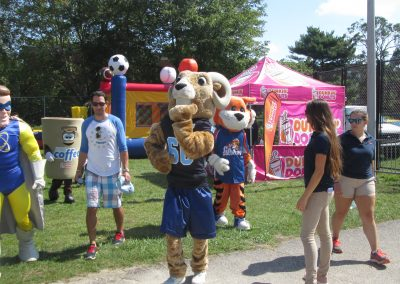 Rams Mascot with the Fans
