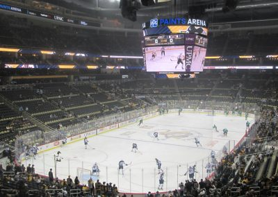 Warmups at PPG Paints Arena