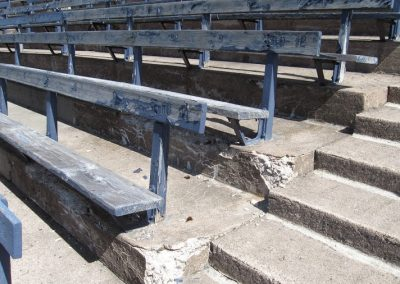 Yale Bowl, a Close Look at the Bleachers