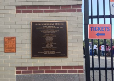 Hughes Stadium, Dedicatory Plaque