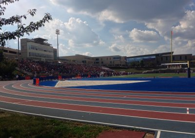 Hughes Stadium, Track around the Field