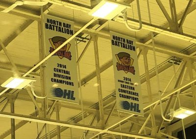 Banners at North Bay Memorial Gardens