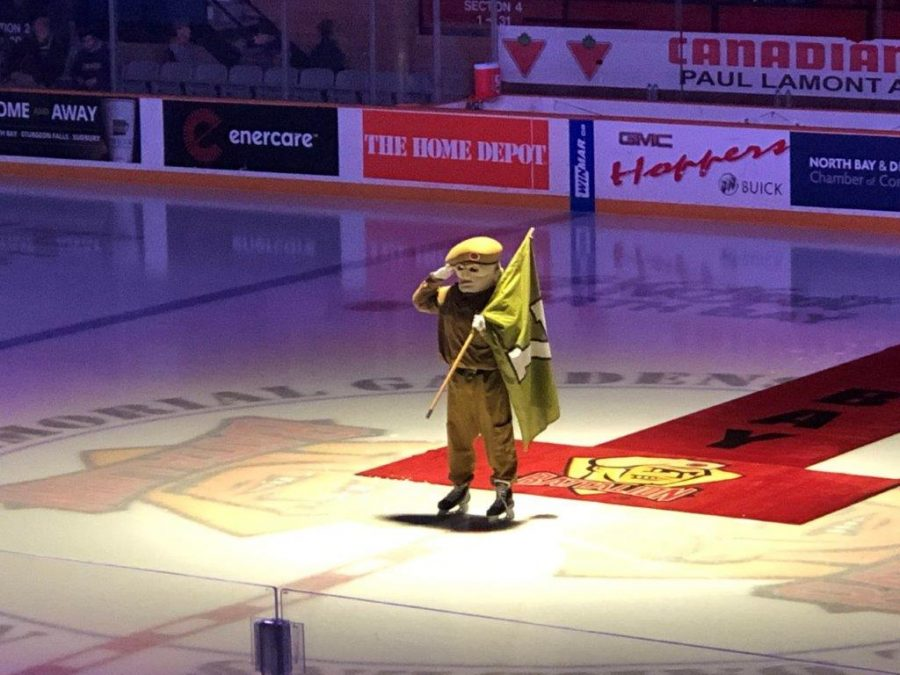Battalion Mascot During National Anthem