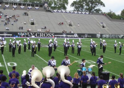 Holy Cross Marching Band Performs