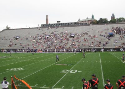 Home Side Grandstand at Fitton Field