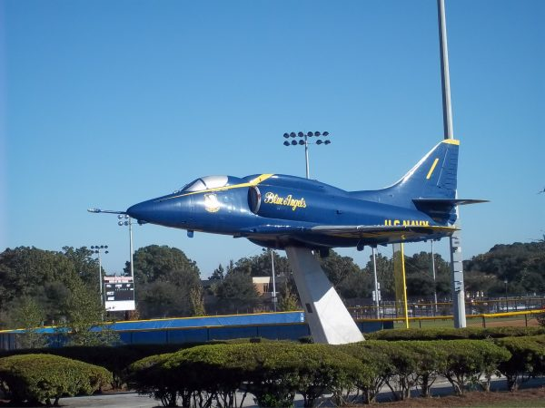 Theodore A. Wright Stadium, Blue Angels Plane