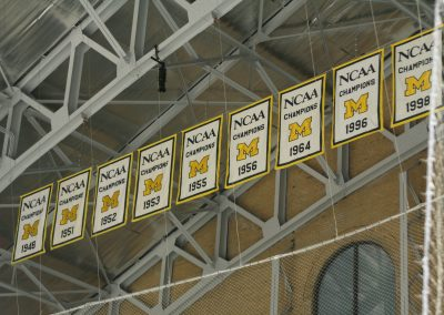 Championship Banners at Yost Ice Arena