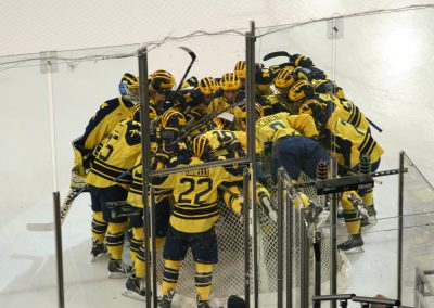 Wolverines Huddle Up at Yost Ice Arena