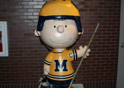 Charlie Brown Statue at Yost Ice Arena