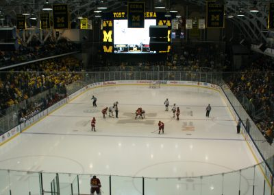 Opening Faceoff at Yost Ice Arena