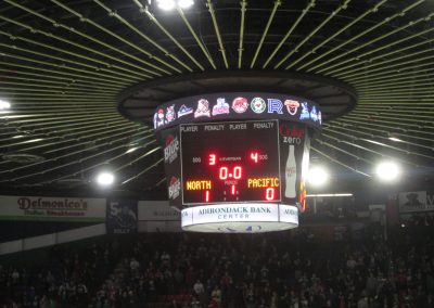 Scoreboard at the Aud