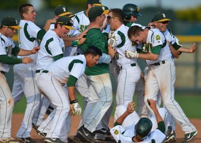 Siena Saints Ballplayers Celebrating