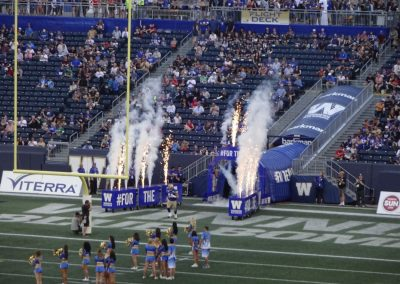 Investors Group Field, Winnipeg Blue Bombers Player Intros