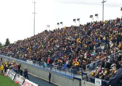 Bobcat Stadium, Montana State Bobcats fans look on