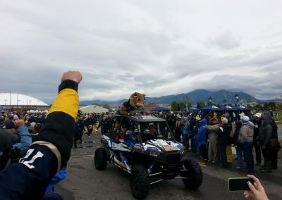 Bobcat Stadium, Montana State Bobcats mascot comes riding in