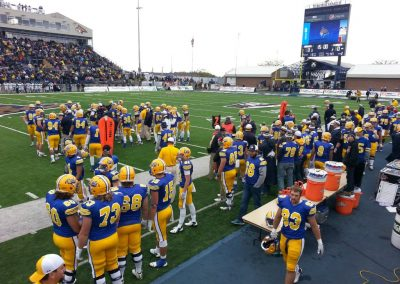 Bobcat Stadium, Montana State Bobcats players on the sideline