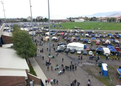 Bobcat Stadium, tailgating outside