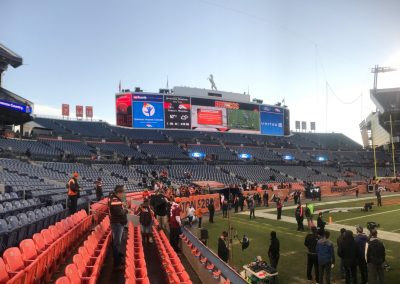 Broncos Stadium at Mile High, Lower Level Seating and Video Board