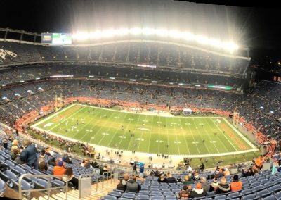 Broncos Stadium at Mile High, Panoramic View at Night