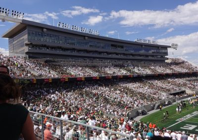 Colorado State Stadium, Press Box and East Stands