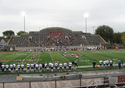 Crown Field at Andy Kerr Stadium, View from Visitor Side