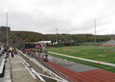 Crown Field at Andy Kerr Stadium, View towards the Field House