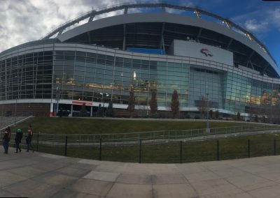 Exterior Panoramic View of Broncos Stadium at Mile High