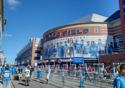 Approaching Ford Field