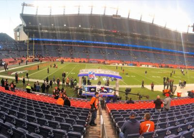 Sideline View at Broncos Stadium at Mile High