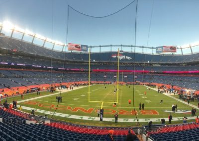 South End Zone View inside Broncos Stadium at Mile High