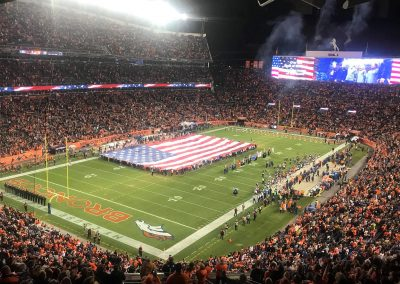 The National Anthem at Broncos Stadium at Mile High
